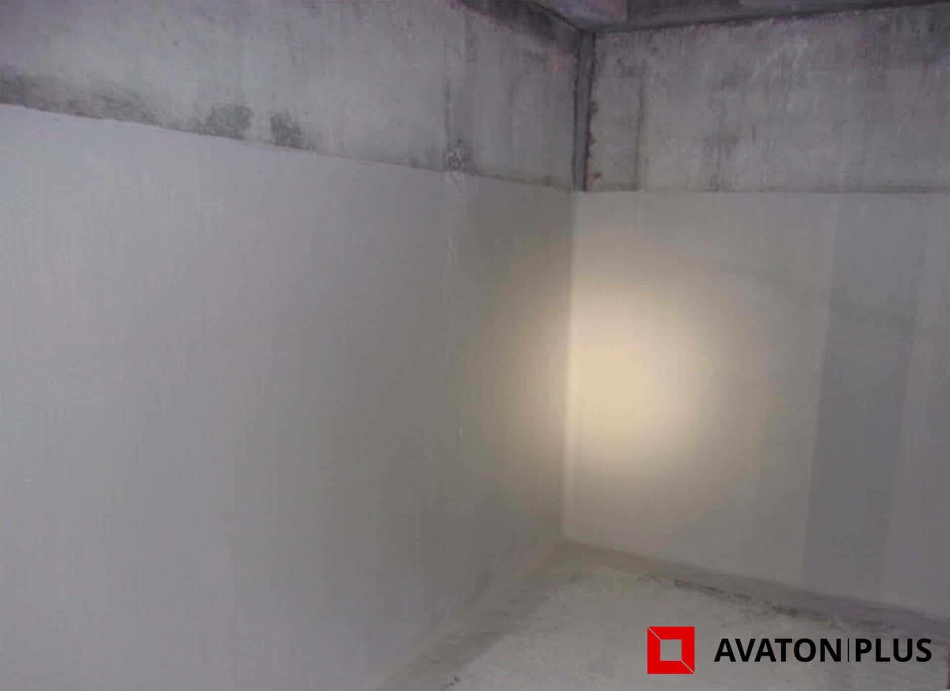 Hydroizolace stěn suterénu skladového prostoru